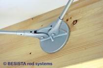 Plaque d'ancrage BESISTA pour bois pour le raccordement des tirants/barres tendues - 298