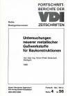 "Betschart thèse de doctorat ""Untersuchungen neuer metallischer Gusswerkstoffe fuer Baukonstruktionen"
