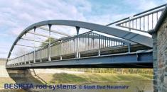 Barres de tirants BESISTA servent comme suspentes et portent le pont d'Amseltal - 500