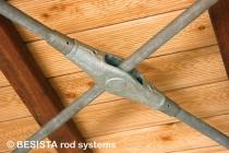 Ancrage de croisement BESISTA avec barres pour contreventements construction en bois - 517