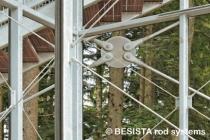 Barres système BESISTA pour les contreventements dans le Skywalk Scheidegg - 587