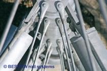 Systèmes de tirants de BESISTA pour les suspentes dans le Skywalk Scheidegg - 588
