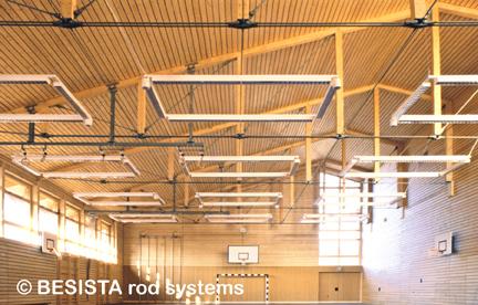 Sistemas de atirantado BESISTA para suspensión y protección a volqueo, escuela Kinding - 24