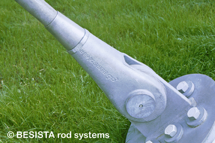 Tirantes/anclajes de tensión sistema BESISTA, detalle del amarre de estructura de cables - 34