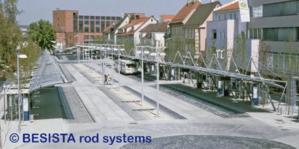 Barras de compresión y tensión sistema BESISTA para arriostramiento de ZOB Reutlingen - 86