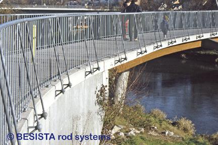 BESISTA anclaje especial con tirantes para una barandilla de un puente - 151