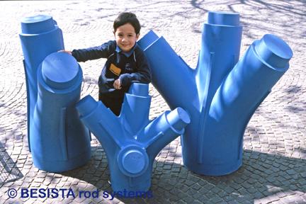 Betschart - modelos nudos de fundición para pilares en forma de rama aeropuerto Stuttgart - 236