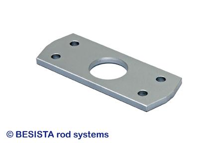 Placas de cruce BESISTA con entalladura para contravientos con ángulos planos - 249