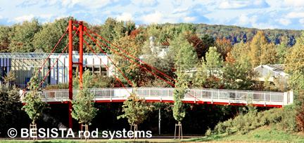 Tensores y anclajes de barra de BESISTA soporten el puente peatonal Göppingen - 261