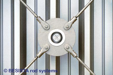 BESISTA disco circular con lámpara y tirantes para una unión de cruz - 271