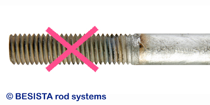 Con BESISTA no hay roscas de barra calentadas y cepilladas sin zinc - 281