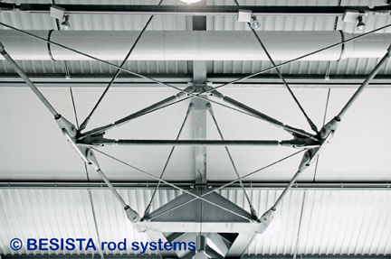 Sistemas de barras de tensión y compresión forman las cerchas - 314