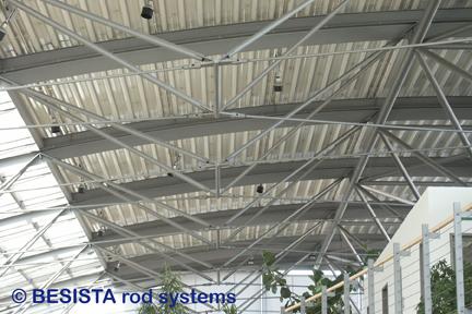 Sistemas de tirantes BESISTA para la estructura de acero en el Audi Center Ingolstadt - 351