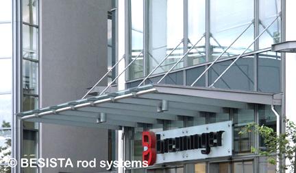 Sistema de barras de compresión BESISTA con barras mecanizadas, Breuninger Ludwigsburg - 384