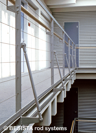 BESISTA barras de compresión con anclajes de barra/cabezales para barandillas - 387