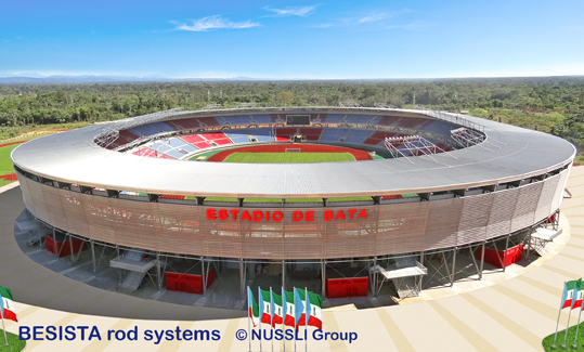 BESISTA sistemas de barras de tensión en el Estadio de Bata Guinea Ecuatorial - 530