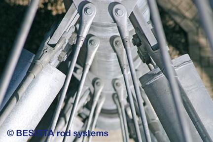 Sistemas de barras de tensión de BESISTA para suspensiones en Skywalk Scheidegg - 588