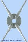 BESISTA disco circular, anclaje de barra y tirante con roscas galvanizadas al fuego - 145