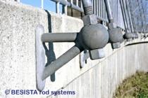 BESISTA anclajes especiales y tirantes con roscas de barra galvanizadas al fuego - 150