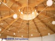 Tensores y anclajes de barra BESISTA para una suspension en construcción de madera - 265