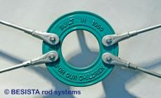 BESISTA disco circular con inscripción y barras de tensión como modelo especial - 270