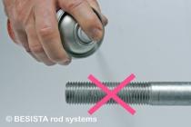 Con BESISTA no hay roscas de barra solamente pulverizadas con pintura de zinc - 280