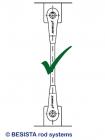 Instalación BESISTA - disposición correcta de los sistemas de tensión y compresión - 367