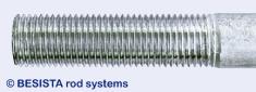 Capa de zinc sobre las roscas de tirantes/miembros en tensión de BESISTA - 434