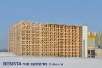 Sistemas de atirantado BESISTA para almacén de estanterías Josera Kleinheubach - 459
