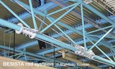 BESISTA miembros de tensión para la suspensión de la Jahnsporthalle Stockach - 488