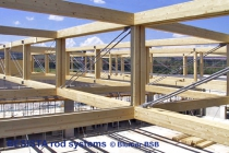 Sistemas de barras de tensión de BESISTA en la construcción de madera de gran valor - 505