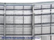 Sistemas de atirantado para el arriostramiento de la cubierta en el Estadio de Bata - 525
