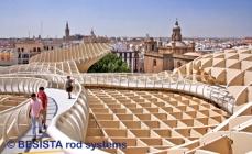 Anclaje de tensión con barras de tensión de BESISTA Metropol Parasol Sevilla, España - 551