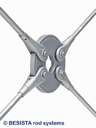 BESISTA Zugstäbe mit Kreisscheibe für den Stahlbau, Holzbau, Fassadenbau - 51