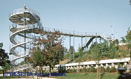 Zugstäbe System BESISTA zur Abhängung und Aussteifung, BuGa Weil am Rhein - 72