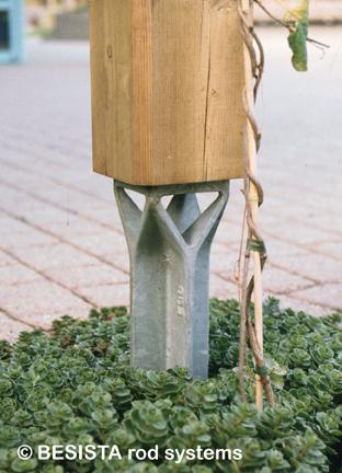 Betschart Stützenfuss von BESISTA aus Guss, speziell für den Holzbau - 90