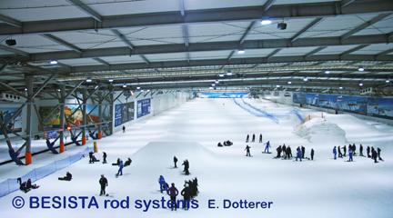 Zugstangensysteme von BESISTA für die Abspannung des Snow Dome - 159