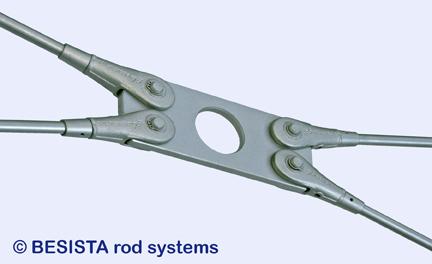 Kreuzplatte BESISTA mit Aussparung für Windverbände mit flachen Winkeln - 247