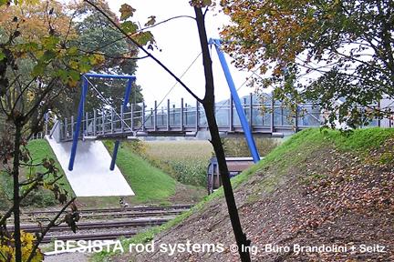 Zugstabsysteme BESISTA für die Abspannung der Gehwegbrücke Ummendorf - 293