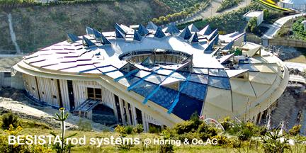 Stabsysteme BESISTA für das Eden Project Cornwall England - 340