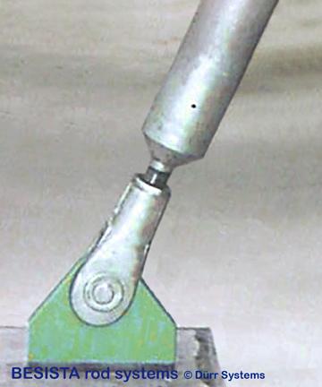 BESISTA Druckstab aus Stahl mit Stabanker/Gabelkopf M76 - 464