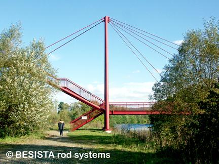 Zugstabsysteme BESISTA für die Abspannung der Pylone - 482.6