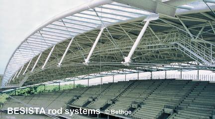 Seilanschlüsse mit Stabanker/Gabelstücke und Zugstabsysteme von BESISTA - 490