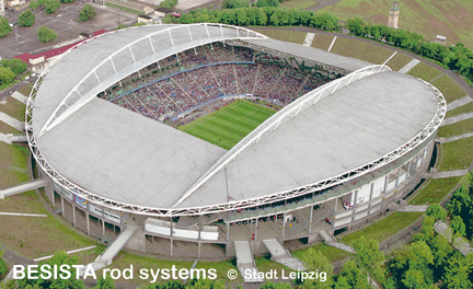 Zugstabsysteme von BESISTA für das Zentralstadion Leipzig - 491