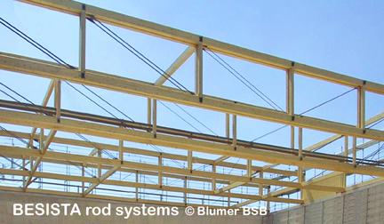 BESISTA Zugstangen/Zugglieder in den Dachbindern aus Holz - 506