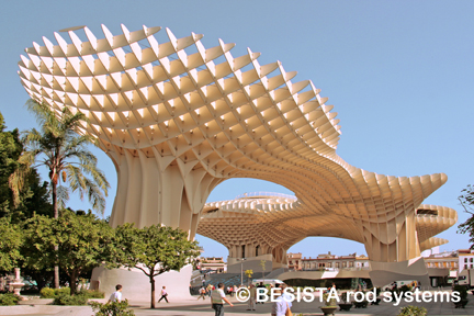 Zugstabsysteme von BESISTA für Metropol Parasol Sevilla, Spain - 558