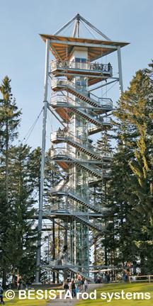 Zugstabsystem BESISTA für die Stahlbau-Struktur des Skywalk Scheidegg - 593