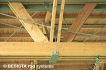 Zugglieder mit Stabanker von BESISTA für die Unterspannung der Holzbinder - 135