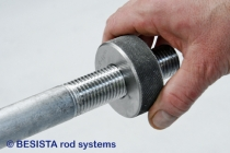 Prüfen der Aussengewinde an den Zugstäben und Druckstäben von BESISTA - 187