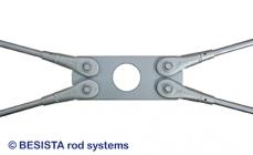 Kreuzplatten mit Aussparung für Zugstangen BESISTA im Stahlbau und Holzbau - 248